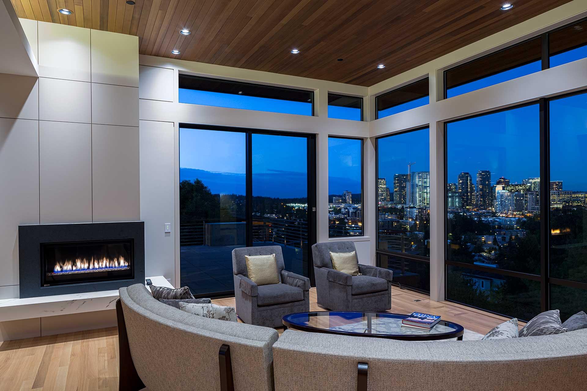 Design Guild Homes. Bellevue Hilltop Custom Built Home.