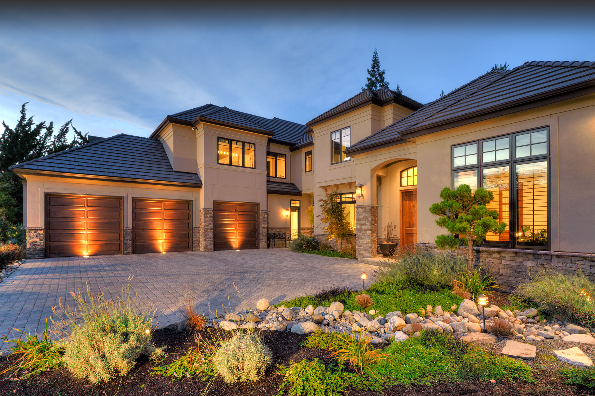 Design Guild Homes. Transitional Zen custom built home.