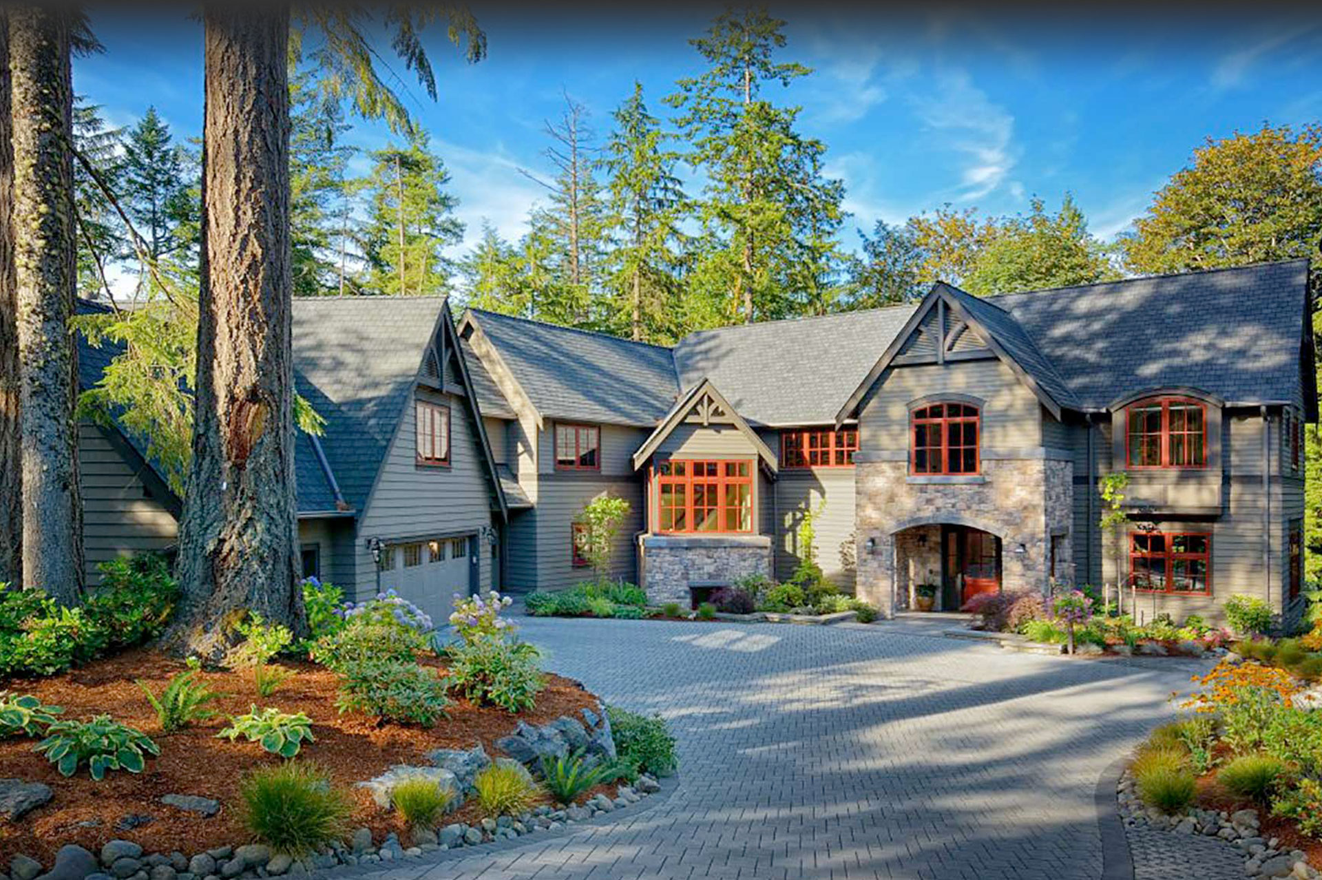 Design Guild Homes. Wooded Highlands custom built home.